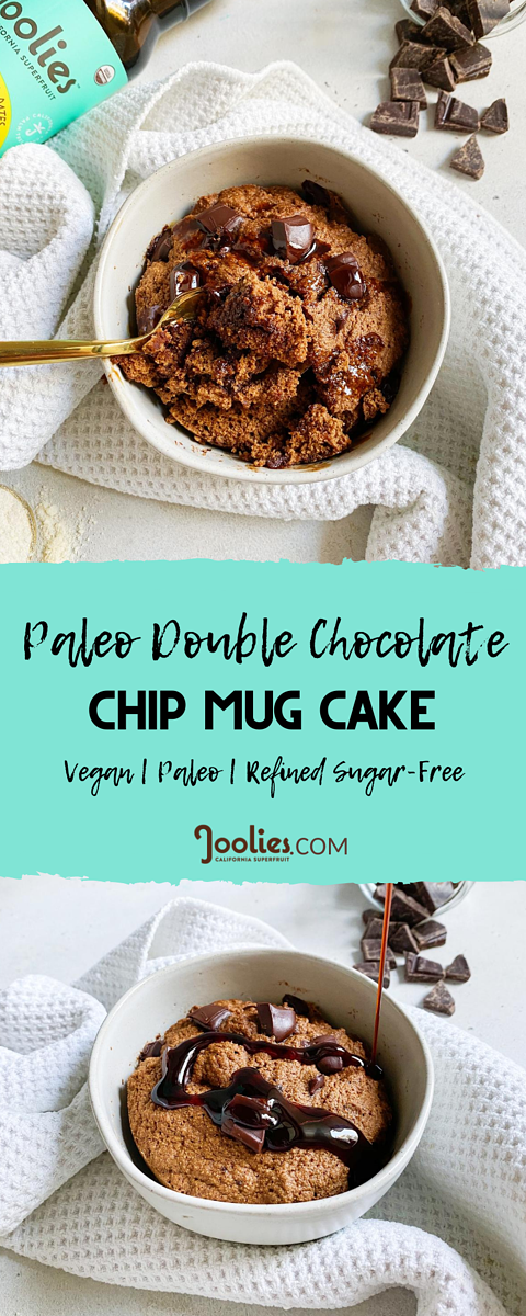 paleo double chocolate chip mug cake