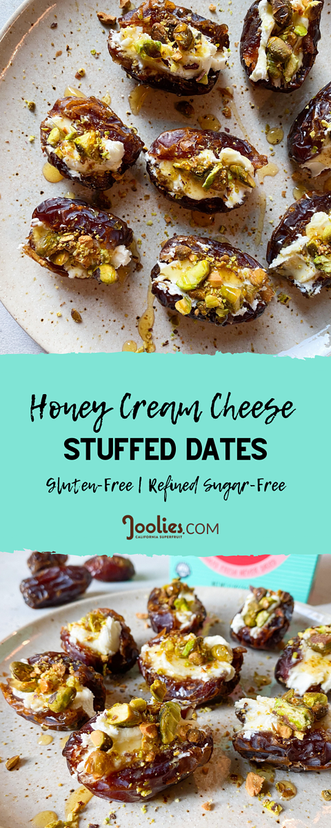 Honey Cream Cheese Stuffed Dates