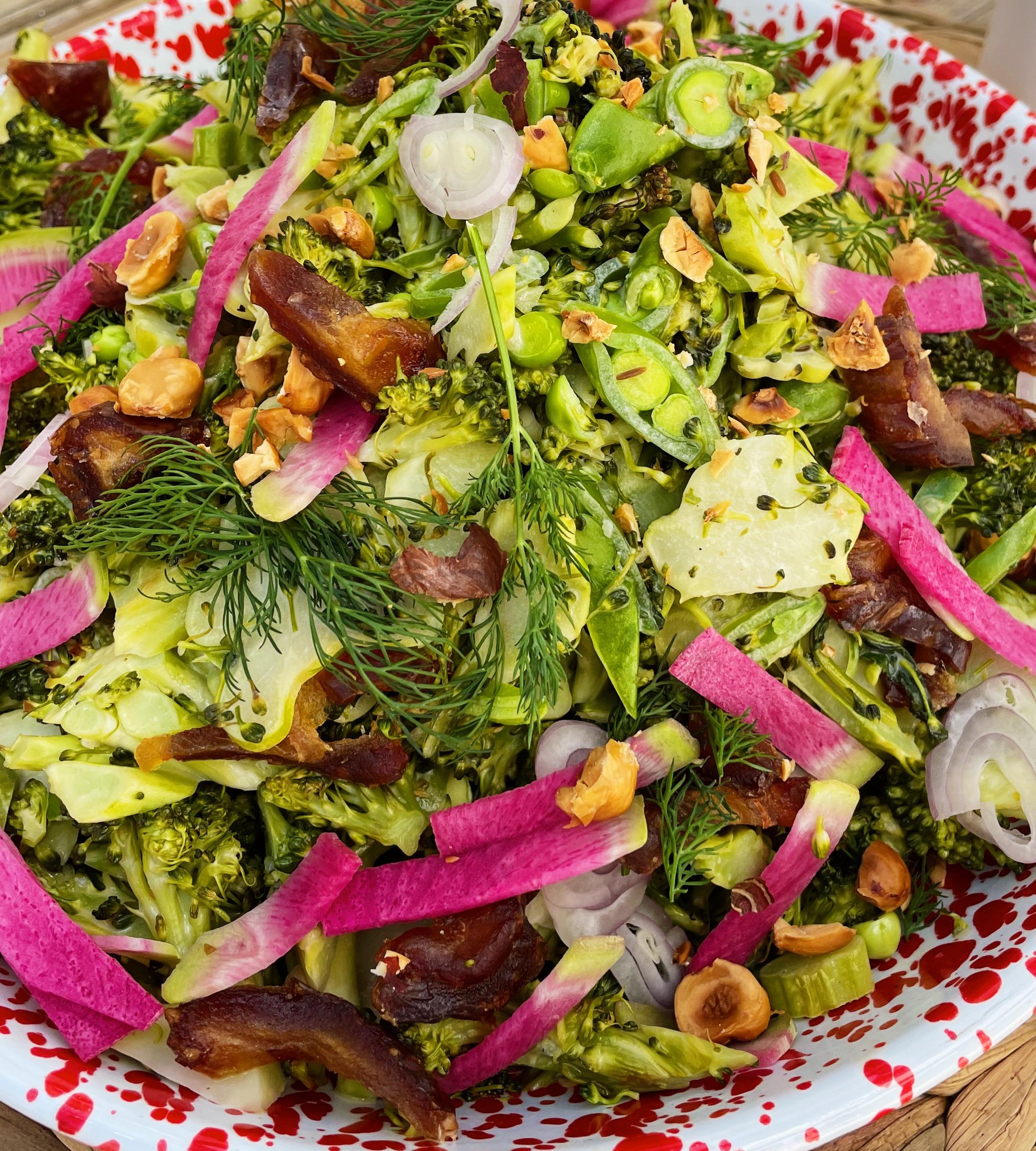 broccoli date chop salad