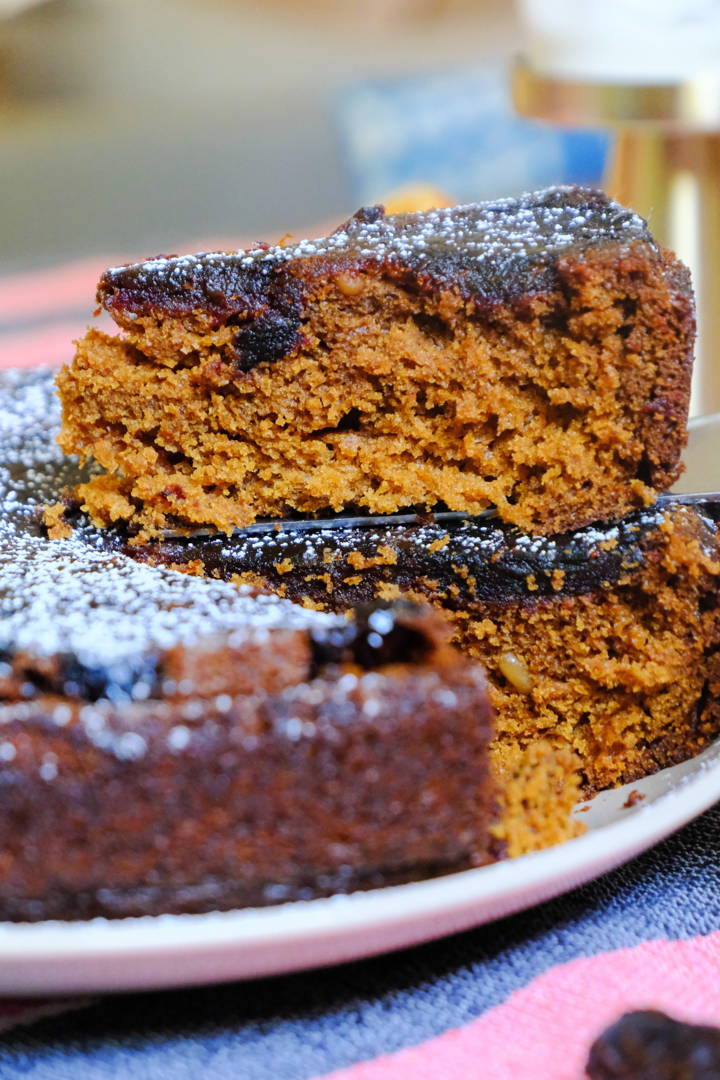 Date Olive Oil Upside Down Cake