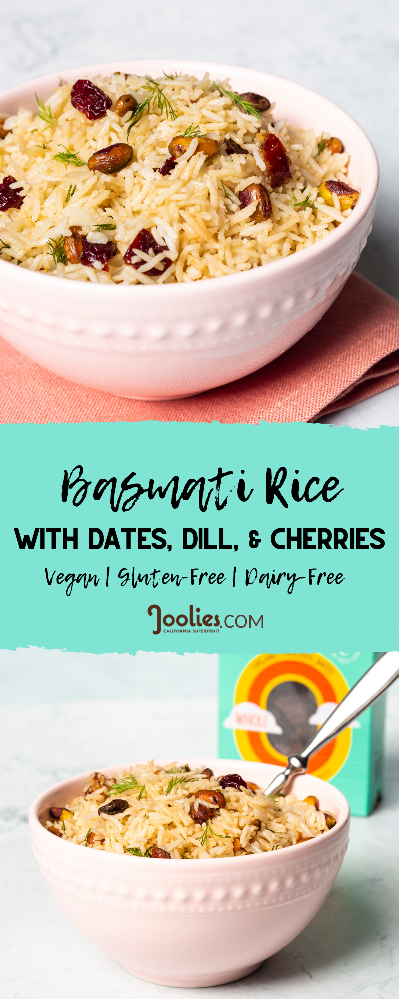 basmati rice with dates + dill