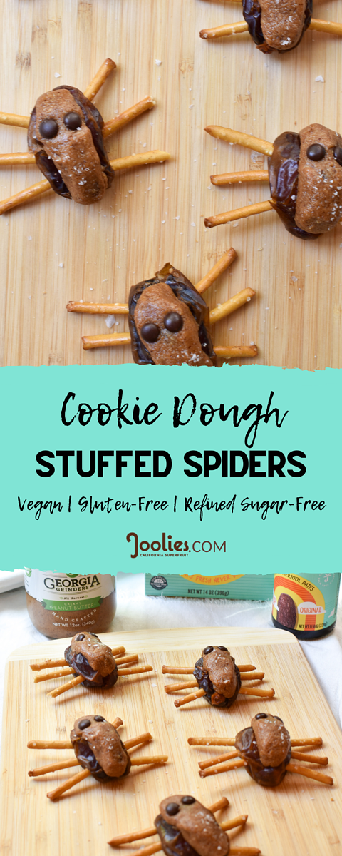 Cookie Dough Stuffed Spiders