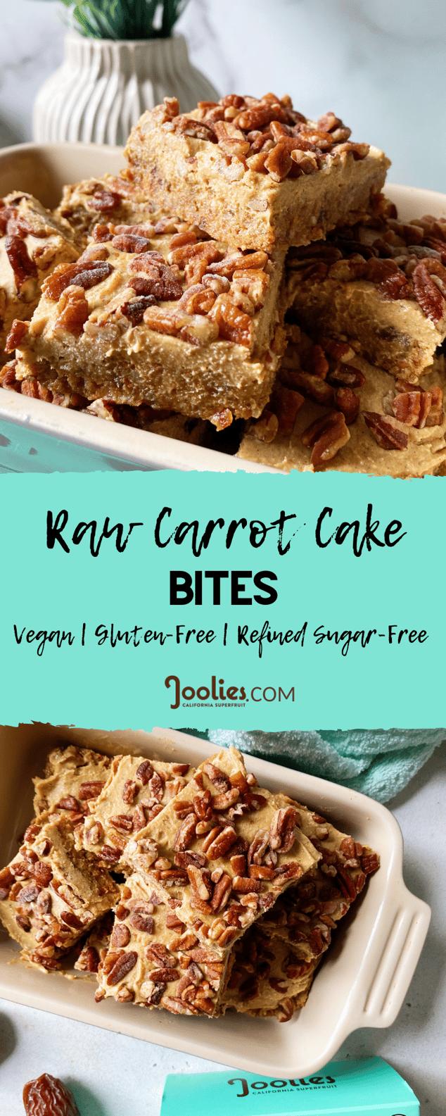 raw carrot cake bites