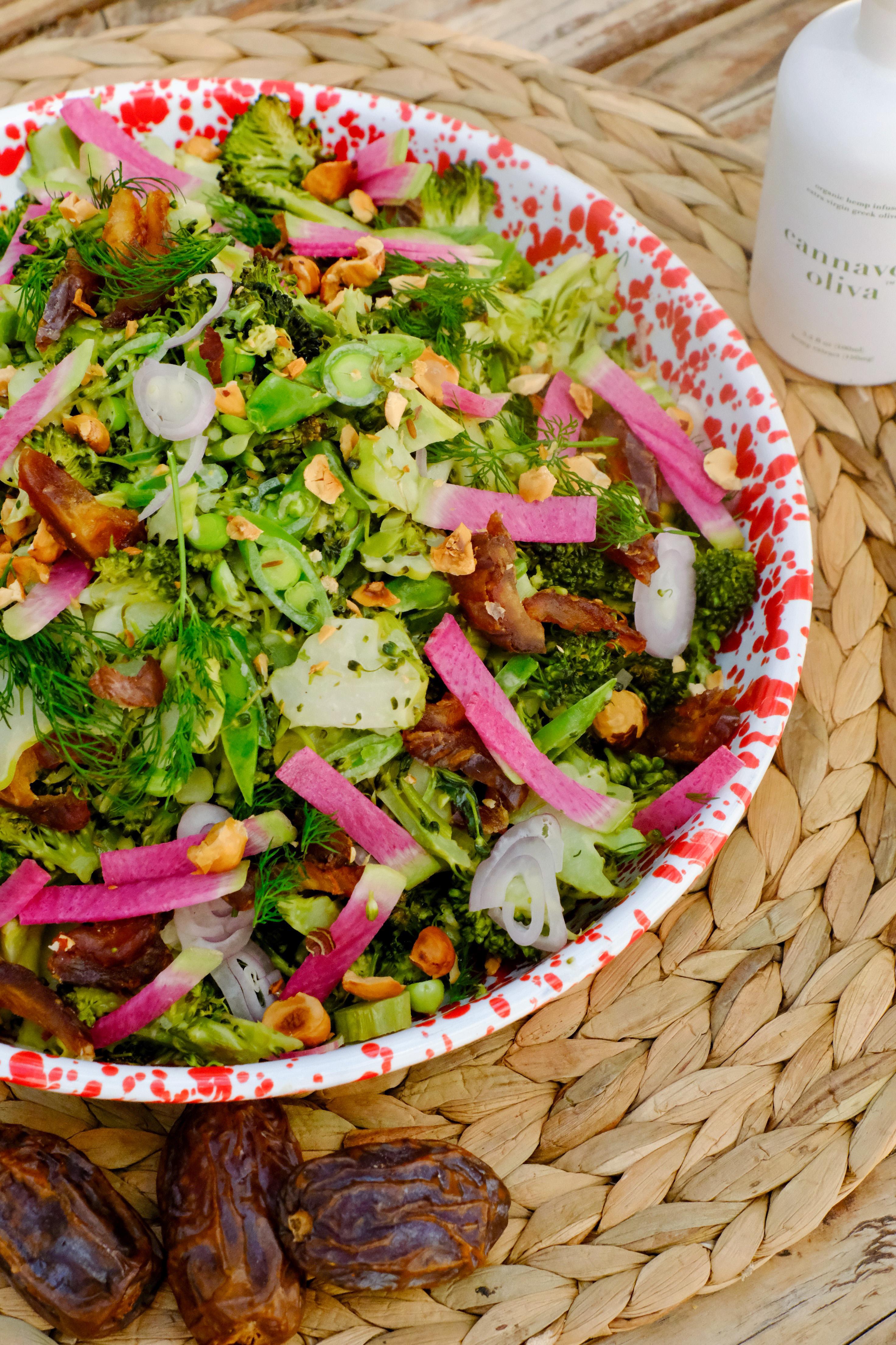 Broccoli Date Spring Chop Salad