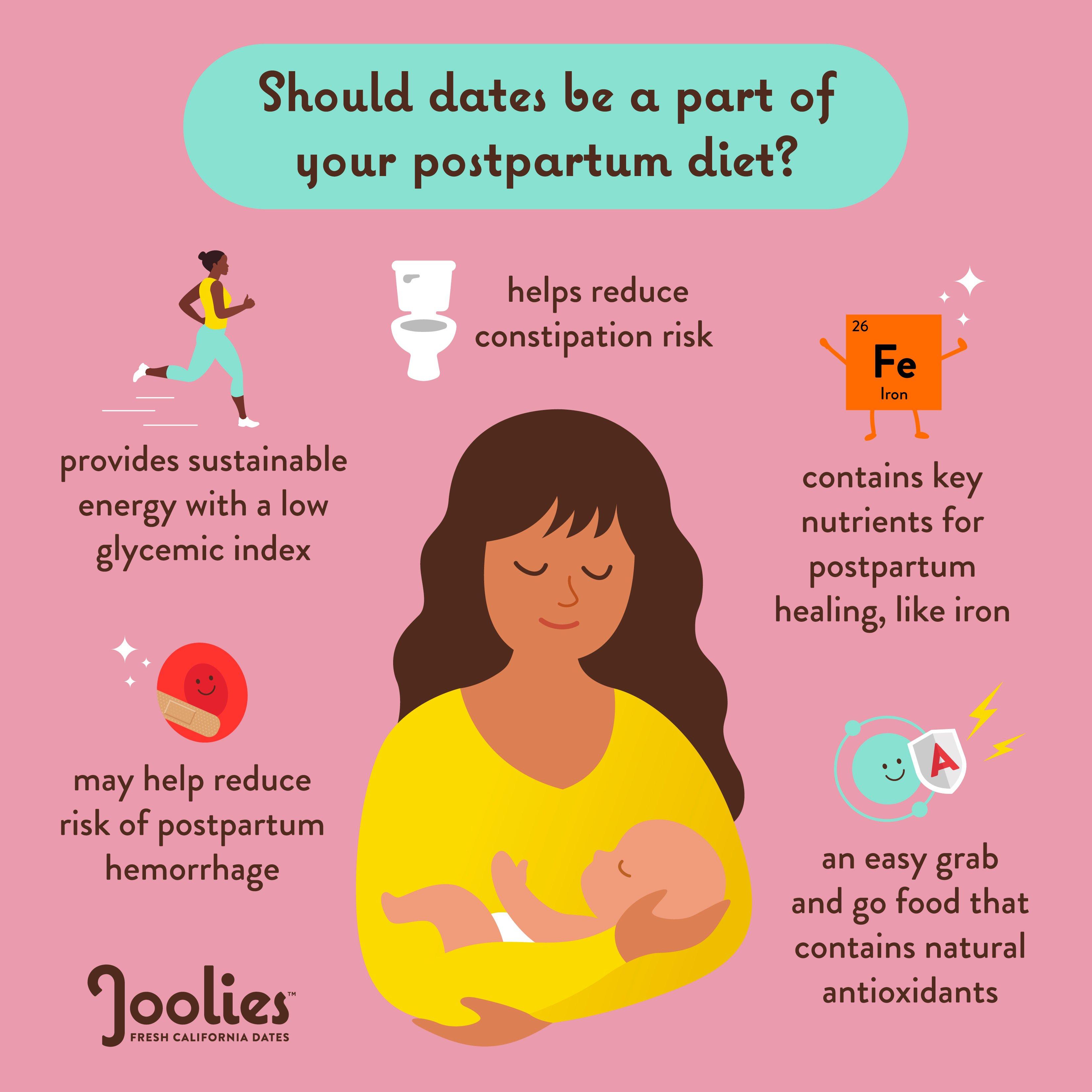 medjool dates in postpartum diet