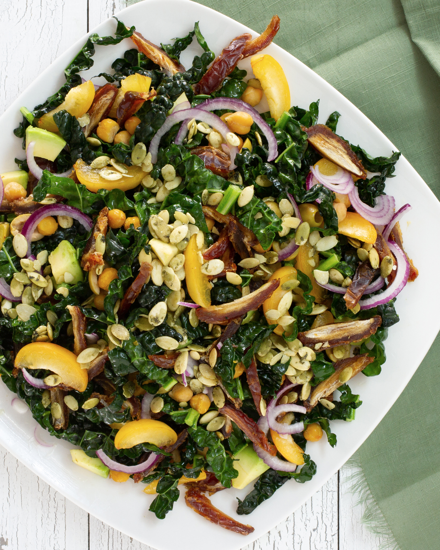 Kale Salad with Medjool Dates and Avocado